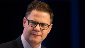 Toronto Blue Jays general manager Ross Atkins is seen at a media availablity in Toronto on Wednesday, January 15, 2020. THE CANADIAN PRESS/Chris Young