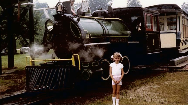 Christine Jessop train photo