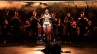 """This image released by Vivacity Media Group shows Celia Rose Gooding during a performance of """"Jagged Little Pill."""" The musical leads the Tony Awards nominations with 15 nods in a pandemic-shortened season. (Matthew Murphy/Vivacity Media Group via AP)"""
