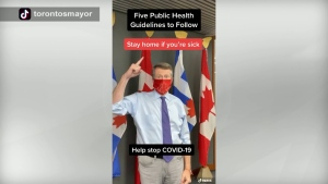 Mayor John Tory posted a video on TikTok to urge people to follow public health guidelines.