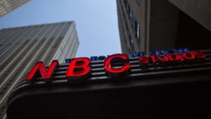An NBC logo at their television studios at Rockefeller Center in New York, May 10, 2017. THE CANADIAN PRESS/AP-Mary Altaffer