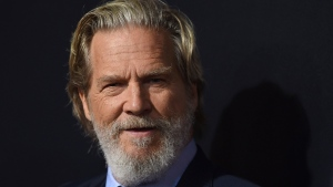 "This Sept. 22, 2018, file photo shows cast member Jeff Bridges arriving at the Los Angeles premiere of ""Bad Times at the El Royale"" at TCL Chinese Theatre. (Photo by Jordan Strauss/Invision/AP, File)"