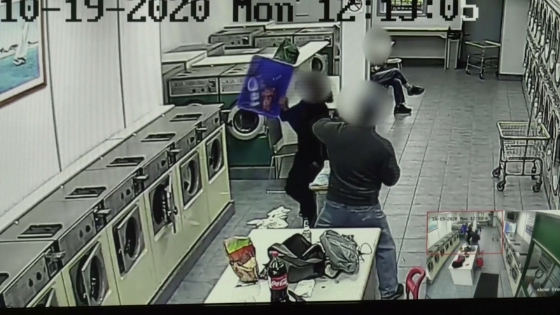 laundromat fight