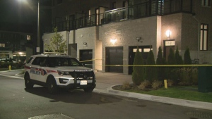Police say a man was found dead in a home in Markham.