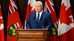 Ontario Premier Doug Ford makes an announcement during the COVID-19 pandemic in Toronto on Thursday, September 24, 2020. THE CANADIAN PRESS/Nathan Denette