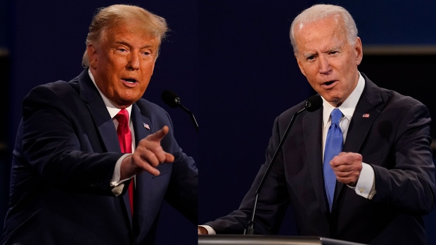 Donald Trump and Joe Biden composite