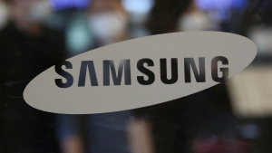 FILE - The logo of the Samsung Electronics Co. is seen at its shop in Seoul, South Korea, Tuesday, July 7, 2020. (AP Photo/Ahn Young-joon, File)