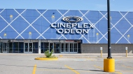A closed Cineplex Odeon is shown in Whitby, Ont. on Friday, July 24, 2020. Ontario Premier Doug Ford says health officials are considering Cineplex's proposal to increase the number of people allowed inside movie theatres. THE CANADIAN PRESS/Chris Young