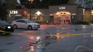 Three suspects are in custody after a man was gunned down in an LCBO parking lot at Victoria Park and Danforth.