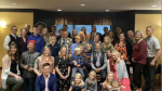A photo of people gathered at a Niagara region banquet hall was posted by Niagara MPP Sam Oosterhoff over the weekend. (Facebook: Sam Oosterhoff)