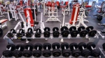 An empty fitness club is seen in Montreal, on Monday, October 26, 2020. THE CANADIAN PRESS/Paul Chiasson