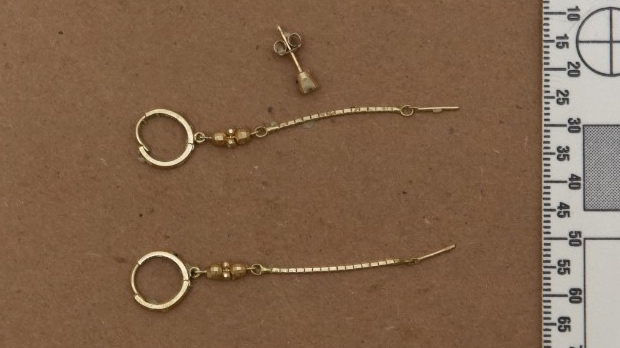 York Regional Police have released this image of earrings in an effort to identify a woman found dead in Lake Simcoe in August.