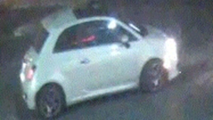 Police are looking for this white Fiat 500 after shots were fired in North York in September. (Handout)