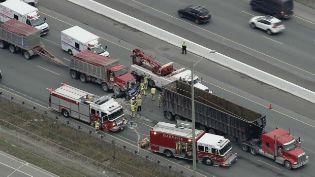 QEW crash