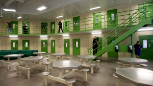 The general inmate facility is shown during a media tour of the Toronto South Detention Centre in Toronto on Thursday, Oct. 3, 2013. The facility is slated to open this fall. THE CANADIAN PRESS/Nathan Denette