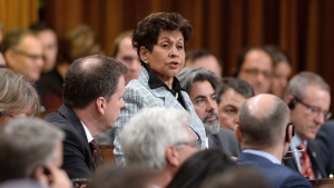 Liberal MP Yasmin Ratansi delivers a speech prior to the vote for the election of a new Speaker to preside over the House of Commons on Parliament Hill in Ottawa on Thursday, Dec. 3, 2015. THE CANADIAN PRESS/Sean Kilpatrick