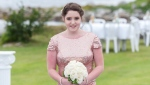Chantelle Lindsay takes part in her friend Hannah MacDonald's wedding in this handout photo. Mark Lindsay wishes his daughter, Chantelle, were here to see the fruitions of her fight to bring transformational new therapies for cystic fibrosis to Canada. But Lindsay knows the 23-year-old, who died of complications from the disease in February, would be elated to know that other patients may be one step closer to benefiting from the treatment she couldn't access. THE CANADIAN PRESS/HO, Trevor Allen Photography