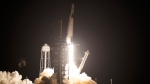 A SpaceX Falcon9 rocket, with the Crew Dragon capsule attached, lift's off from Kennedy Space Center's Launch Complex 39-A Sunday Nov. 15, 2020, in Cape Canaveral, Fla. Four astronauts are beginning a mission to the international Space Station. (AP Photo/John Raoux)