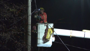 Toronto Hydro crews continue to work to restore power to its customers.