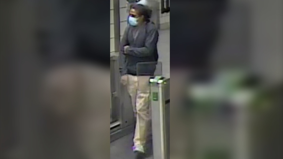 Toronto police have released a photo of a man wanted for sexual assault at Islington Subway Station in this handout.