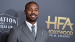 "FILE - Michael B. Jordan arrives at the Hollywood Film Awards on Nov. 4, 2018, in Beverly Hills, Calif. Jordan has been crowned as 2020's Sexiest Man Alive by People magazine. Known for his critically-acclaimed performances in ""Fruitvale Station,"" ""Creed"" and ""Black Panther,"" he was revealed as this year's winner Tuesday, Nov. 17, 2020, on ABC's ""Jimmy Kimmel Live!"" (Photo by Jordan Strauss/Invision/AP, File)"