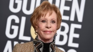 """Carol Burnett arrives at the 76th annual Golden Globe Awards on Jan. 6, 2019, in Beverly Hills, Calif.. Episodes of """"The Carol Burnett Show"""" are available on streaming services like Tubi and The Roku Channel. (Photo by Jordan Strauss/Invision/AP, File)"""