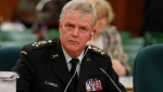Chief of the Defence Staff Gen. Rick Hillier appears before a Commons special committee hearing witnesses on the mission in Afghanistan, on Parliament Hill, Wednesday, June 18, 2008. THE CANADIAN PRESS - Fred Chartrand