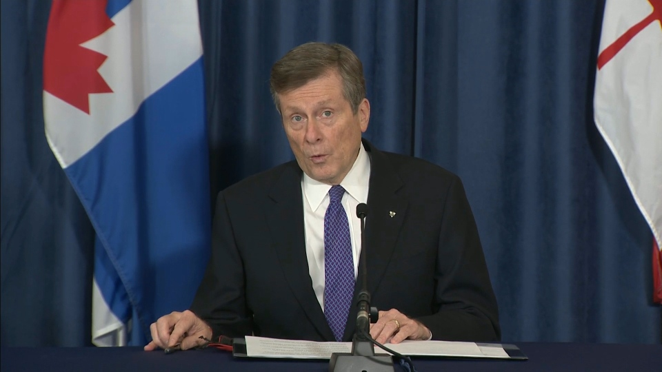 Mayor John Tory speaks at a briefing on the status of COVID-19 in Toronto Monday November 23, 2020.