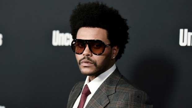 "The Weeknd attends the LA premiere of ""Uncut Gems"" at ArcLight Hollywood on Wednesday, Dec. 11, 2019, in Los Angeles. (Photo by Richard Shotwell/Invision/AP, File)"