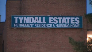 Tyndall Nursing Home is seen in this undated photo. The Mississauga long-term care home is dealing with a COVID-19 outbreak.