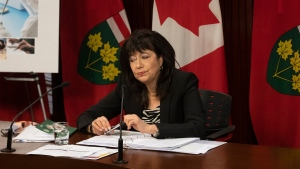 Ontario Auditor General Bonnie Lysyk holds a news conference at the Ontario Legislature in Toronto on Wednesday, November 25, 2020.THE CANADIAN PRESS/Chris Young