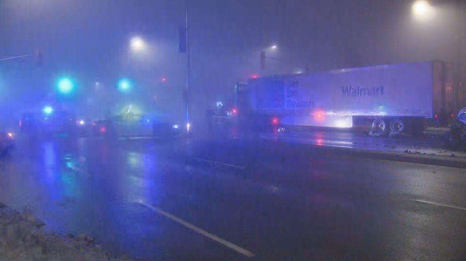 Halton police say there was poor visibility due to foggy conditions when a serious crash happened early Thursday morning in Milton.
