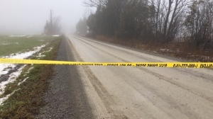 An Ontario Provincial Police officer has serious injuries following an incident near Lindsay, Ontario Thursday morning. (Courtesy: Harrison Perkins)
