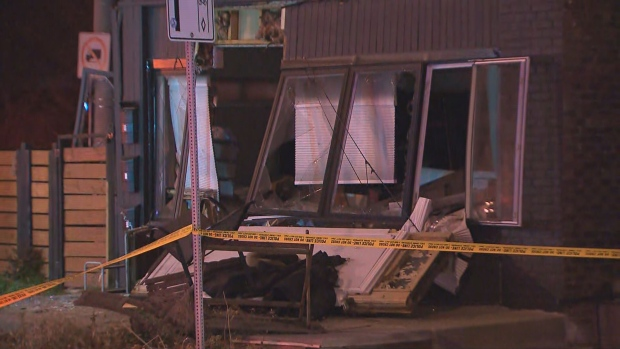 Windows were blown out following an explosion in East York.