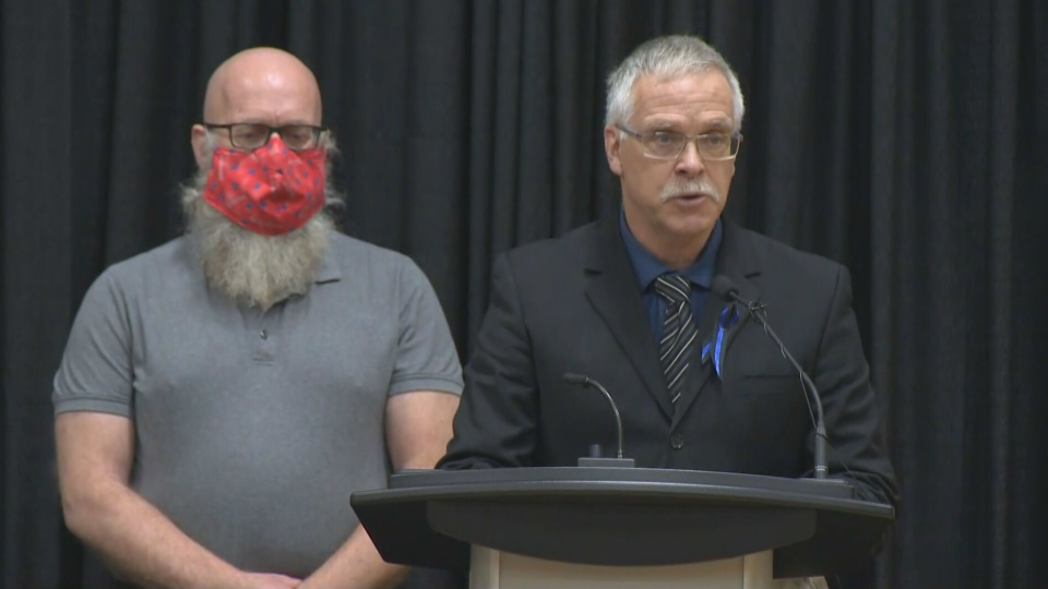 Hovingh's brothers deliver a speech at his funeral in Manitoulin Island.