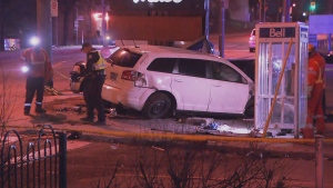 Toronto police are investigating a collision in the city's west end.