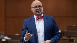 Justice Minister David Lametti responds to a question during Question Period in the House of Commons Thursday October 22, 2020 in Ottawa. THE CANADIAN PRESS/Adrian Wyld
