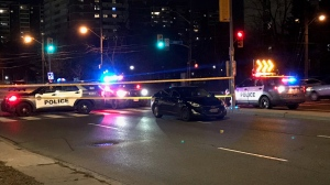 Toronto police are investigating after a pedestrian was struck in North York. (CP24/Mike Nguyen)