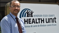 Wajid Ahmed, Chief Officer of Health for Windsor-Essex County poses outside his office in Windsor, Ont. on Thursday June 25, 2020.  THE CANADIAN PRESS/Rob Gurdebeke