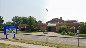 St. Benedict Catholic Elementary School in Markham is seen in this Google Streetview photo.