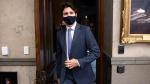 Prime Minister Justin Trudeau leaves the House of Commons after the tabling of the fiscal update on Parliament Hill in Ottawa, on Monday, Nov. 30, 2020. THE CANADIAN PRESS/Justin Tang