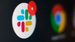 The Slack app icon is displayed on a computer screen, Wednesday, Dec 2, 2020, in Tokyo. (AP Photo/Kiichiro Sato)