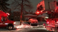 Police respond to a house fire on Nevada Court in Brampton Tuesday December 1, 2020. (Beth Macdonell)