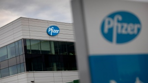 In this Nov. 9, 2020, file photo, a general view of Pfizer Manufacturing Belgium in Puurs, Belgium. Pfizer and BioNTech say they've won permission Wednesday, Dec. 2, 2020, for emergency use of their COVID-19 vaccine in Britain, the world's first coronavirus shot that's backed by rigorous science -- and a major step toward eventually ending the pandemic.(AP Photo/Virginia Mayo, File)