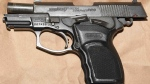 A Bersa handgun seized on Nov. 28 in Vaughan is shown in a YRP handout.