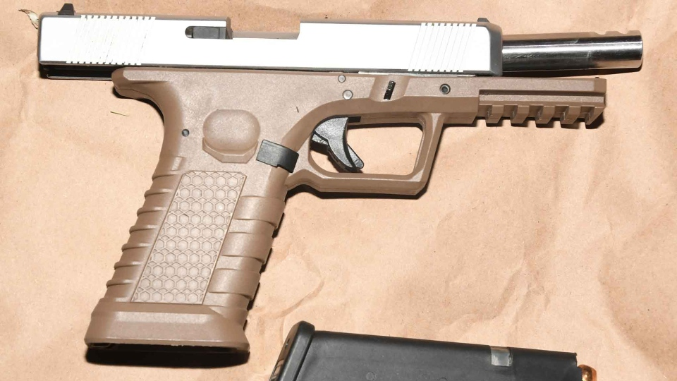 A Glock handgun seized on Nov. 28 is shown in a YRP handout image.