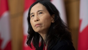 Chief Public Health Officer Theresa Tam listens to a question during a news conference Tuesday December 1, 2020 in Ottawa. THE CANADIAN PRESS/Adrian Wyld