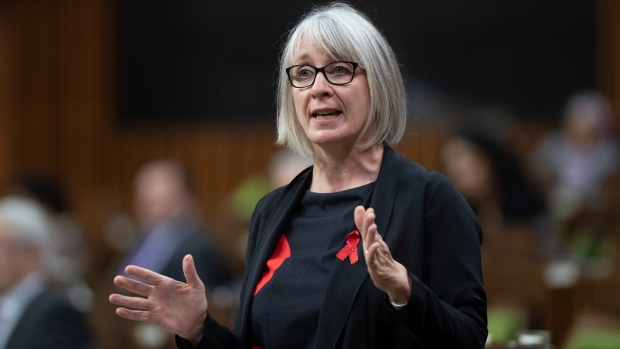 Minister of Health Patty Hajdu responds to a question during Question Period in the House of Commons Tuesday December 1, 2020 in Ottawa. THE CANADIAN PRESS/Adrian Wyld
