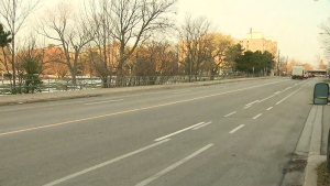 The bike lanes along Brimley Road in Scarborough are shown. The city plans to remove them, just five months after they were first installed.