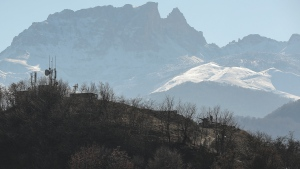 A mobile gun of the Azerbaijan Army is seen near Kalbajar, Azerbaijan, Friday, Nov. 27, 2020. Azerbaijan's president has vowed to rebuild and revive the Kalbajar region, which Armenian forces ceded in a truce that ended six weeks of intense fighting over Nagorno-Karabakh. (AP Photo/Emrah Gurel)